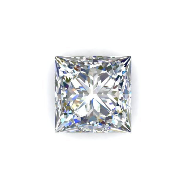 GIA 1.03 Carat Princess Cut Diamond G Color VS1 Clarity