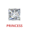 1 Carat Princess Cut 3/4 Ct. Diamonds