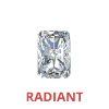 3/4 Karat Radiant Cut Loose Diamonds