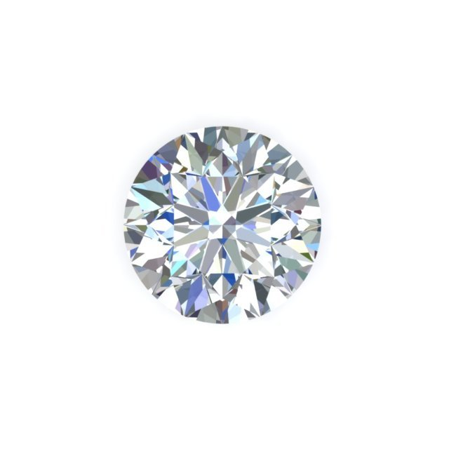 GIA 1 Carat Round Cut Diamond H Color SI1 Clarity