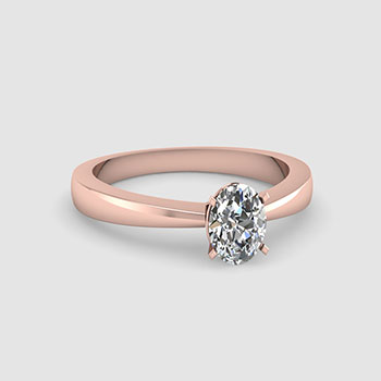 Oval Cut Solitaire Diamond Rings