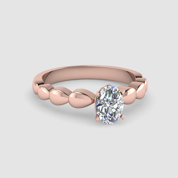 Solitaire Oval Shaped Diamond Rings