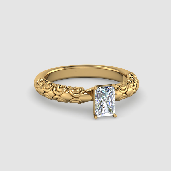 Solitaire Radiant Shaped Diamond Rings