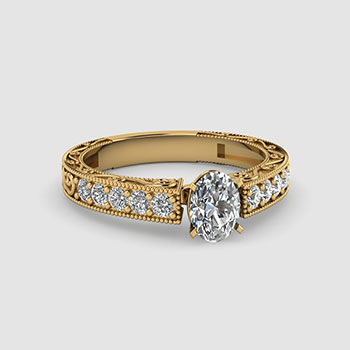 Oval Cut Vintage Diamond Rings