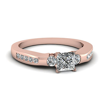 Half Carat Princess Cut Diamond Engagement Ring For Her
