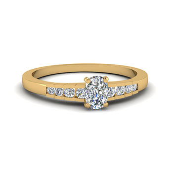 1/2 Carat Cushion Cut Engagement Ring