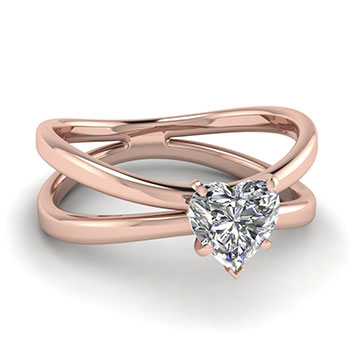 1/2 Ct. Heart Shaped Diamond Ring For Her