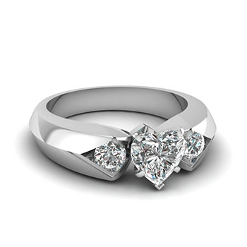 0.75 Carat Heart Shaped Diamond Engagement Ring