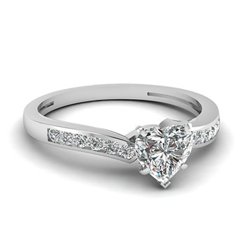 0.50 Carat Diamond Heart Shaped Ring