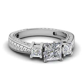 Princess Cut 1 Ct. Diamond Ring