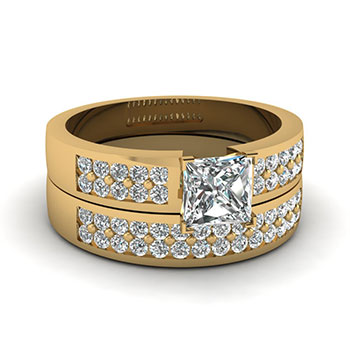 One Carat Princess Cut Diamond Ring
