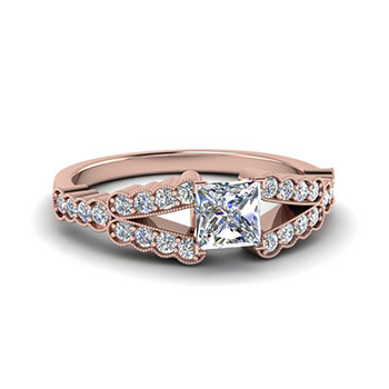 Princess Cut 1/2 Ct. Diamond Ring For Women