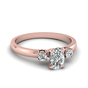 0.50 Carat Cushion Cut Diamond Engagement Ring For Her