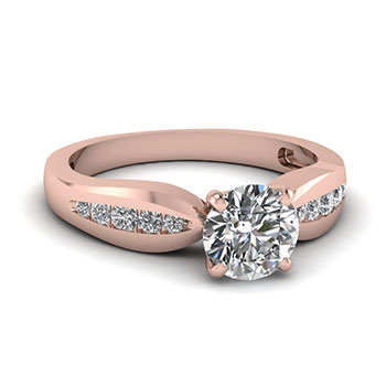 Half Carat Round Cut Engagement Rings