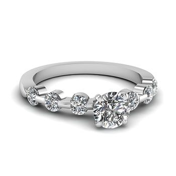 1/2 Ct. Round Cut Diamond Engagement Ring For Women