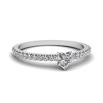 Half Carat Heart Shaped Diamond Ring For Women