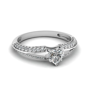 Half Carat Heart Shaped Diamond Ring For Her