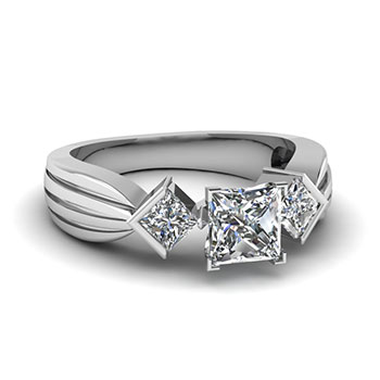 1 Carat Princess Cut Diamond Ring For Her