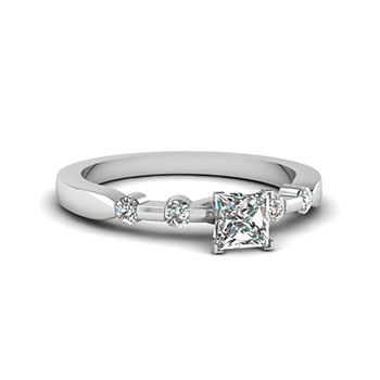 0.50 Carat Princess Cut Diamond Engagement Ring