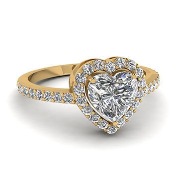 3/4 Carat Heart Shaped Diamond Engagement Ring