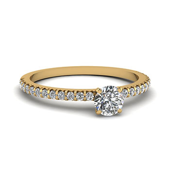 0.50 Ct. Round Cut Diamond Wedding Ring
