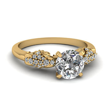 Women Engagement Ring 1/2 Ct. Round Diamond