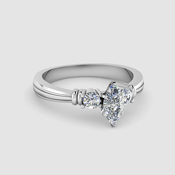 3 Stone Marquise Cut Diamond Rings