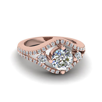 0.75 Carat Round Cut Diamond Engagement Ring For Her