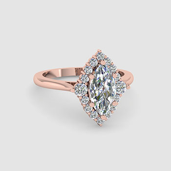 Marquise Cut Halo Engagement Rings