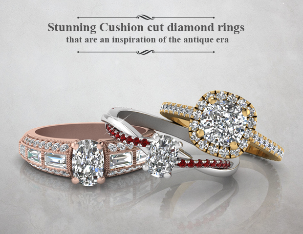 Stunning Cushion Cut Diamond Rings