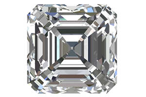 0.50 Ct. Diamond Asscher Cut