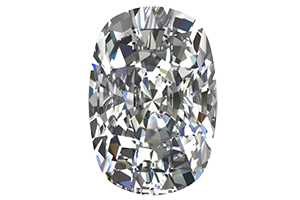 GIA 0.7 Carat Cushion Cut Diamond D Color SI1 Clarity