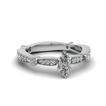 1 Ctw. Marquise Cut Diamond Ring