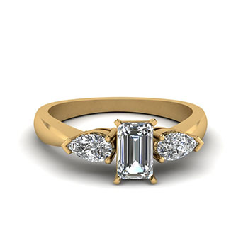 0.50 Ct. Emerald Cut Diamond Engagement Ring For Women