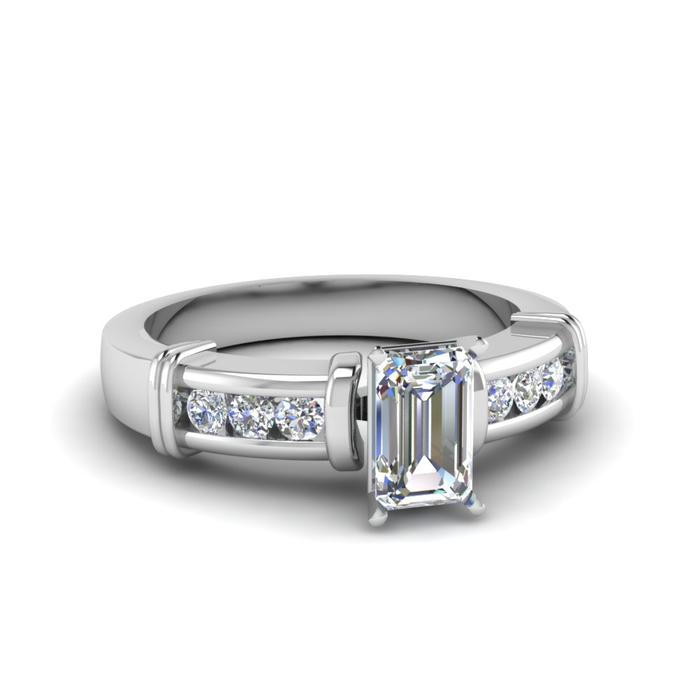 1/2 Carat Emerald Cut Diamond Engagement Ring
