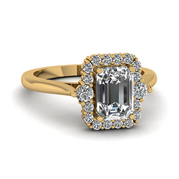 0.75 Carat Emerald Cut Diamond Engagement Ring