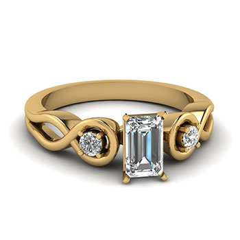 1/2 Carat Emerald Cut Diamond Engagement Ring For Her