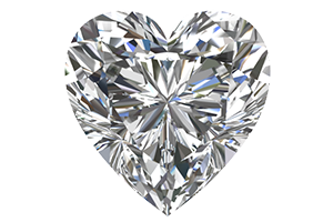 Heart Cut Certified Diamonds
