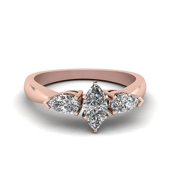 0.75 Carat Marquise Cut Engagement Diamond Ring