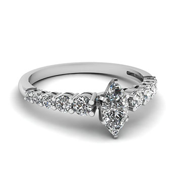 0.75 Ct. Marquise Cut Diamond Engagement Ring