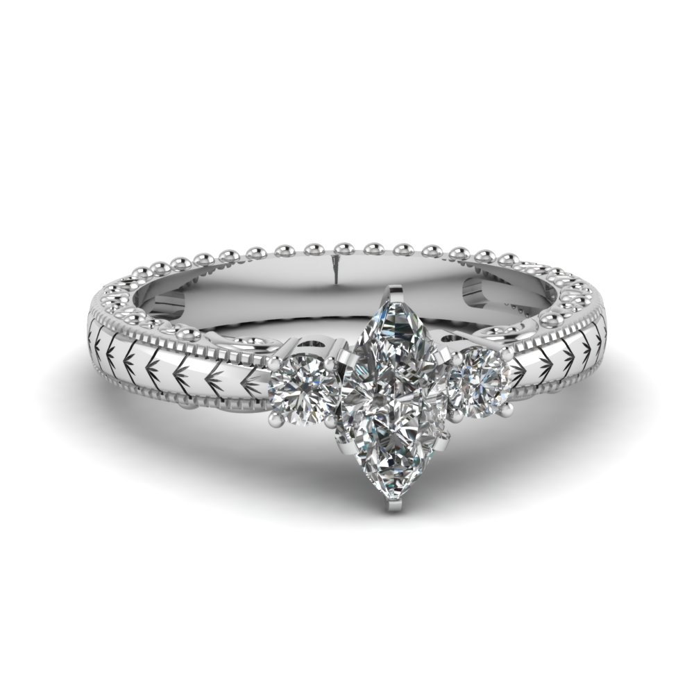 Half Carat Marquise Cut Diamond Ring For Her