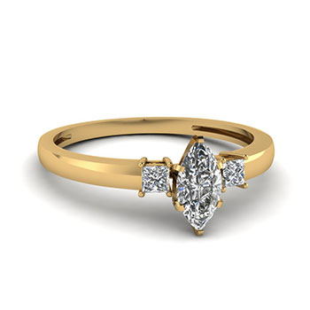 0.50 Ct. Marquise Cut Diamond Women Engagement Ring