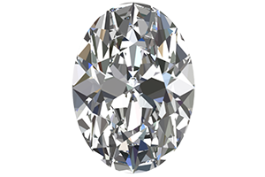 Loose 1/2 Carat Oval Cut Diamond