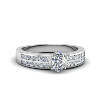 0.50 Carat Oval Shaped Diamond Engagement Ring