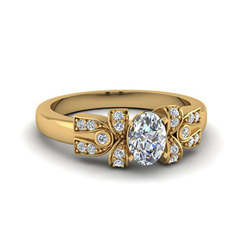 0.50 Ct. Oval Diamond Ring For Women