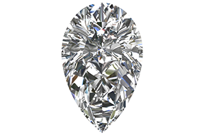 Loose 3/4 Carat Pear Shaped Diamond