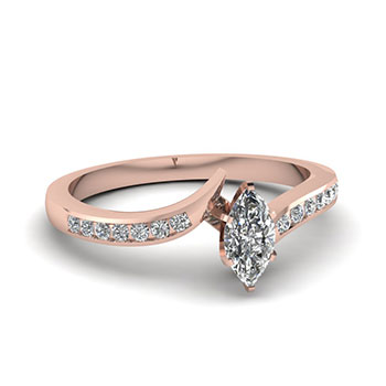 0.50 Carat Marquise Cut Diamond Engegement Ring
