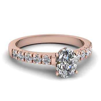 0.75 Ct Oval Shaped Diamond Engagement Ring