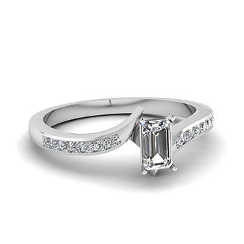 0.50 Ct. Emerald Cut Engagement Ring