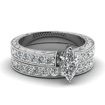 Marquise Cut 1 Ct. Diamond Engagement Rings